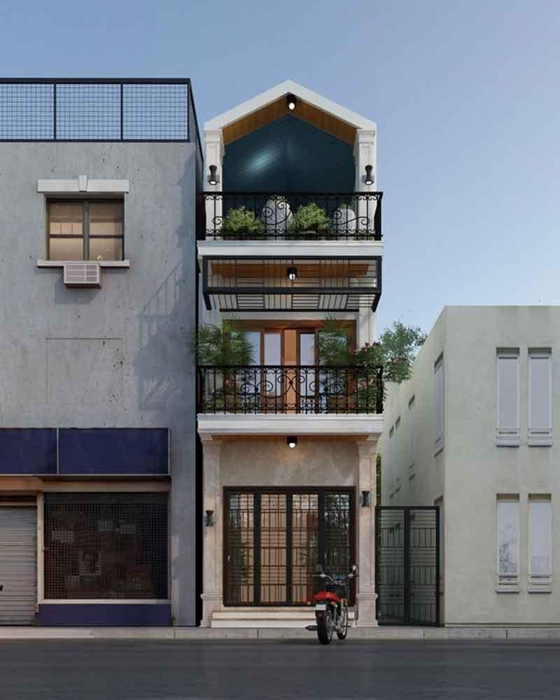 Công trình nhà lô phố 2,5 tầng tại Vĩnh Phúc