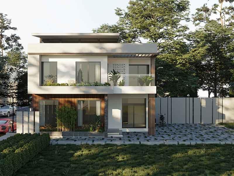 Thiết kế mẫu nhà 2 tầng hiện đại