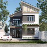 Thiết kế nhà anh Thắng 2 tầng mái lệnh tại Vĩnh Phúc