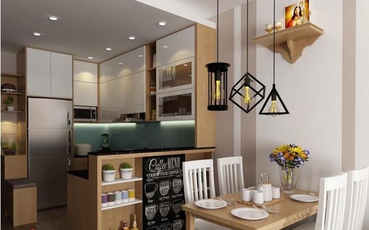 Thi công phòng ăn – bếp chung cư-view 2