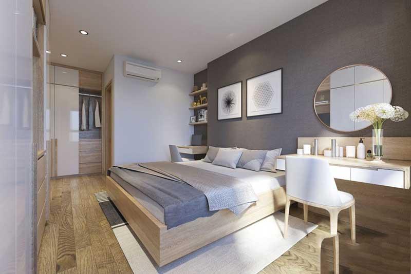 Phòng ngủ của bố mẹ nhẹ nhàng, đơn giản – view 1