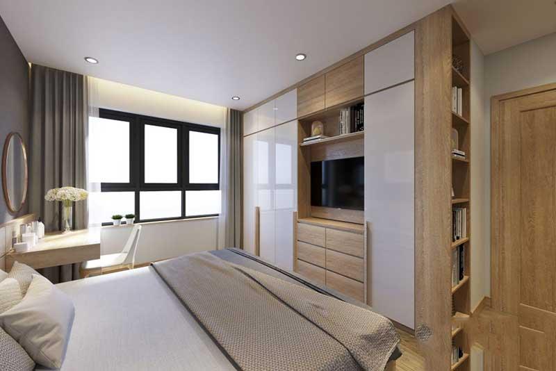 Phòng ngủ của bố mẹ nhẹ nhàng, đơn giản – view 2