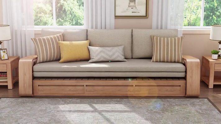 Phòng khách với bộ sofa thông minh
