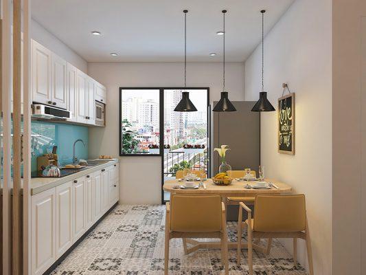 Không gian bếp trong chung cư