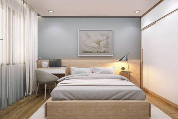 Thiết kế thi công nội thất phòng ngủ chung cư anh Khoa - Thái Bình