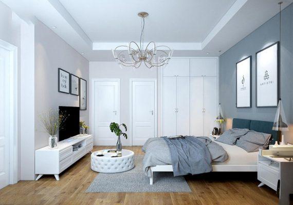 Không gian phòng ngủ master với nội thất thông minh
