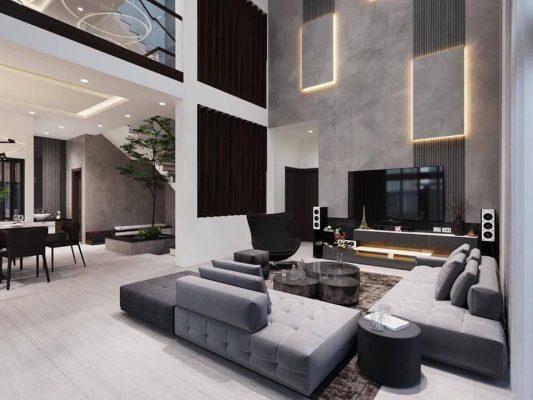 Thiết kế nội thất biệt thự có hồ bơi