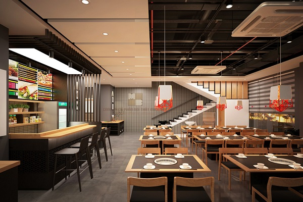 Báo giá thiết kế nhà hàng tại Vĩnh Phúc