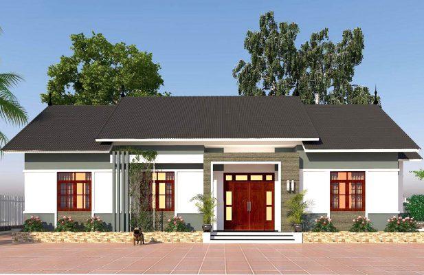 Thiết kế nhà vườn 3 gian tại Vĩnh Phúc