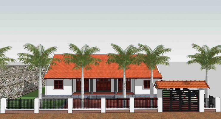 Các bước thiết kế nhà vườn 3 gian tại Vĩnh Phúc
