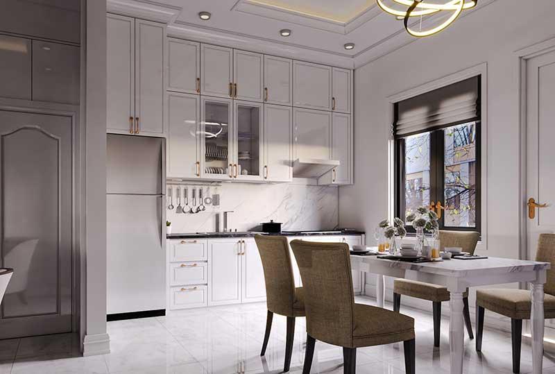 Thiết kế thi công nội thất tân cổ điển Phòng bếp - Phòng ăn