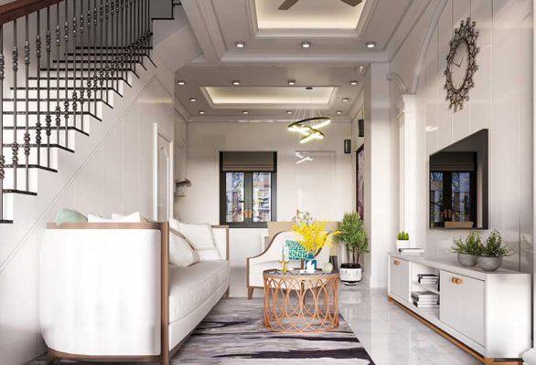 Thiết kế thi công nội thất tân cổ điển Phòng Khách
