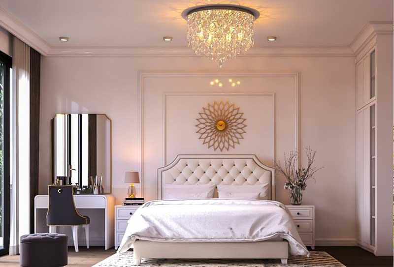Thiết kế thi công nội thất tân cổ điển phòng ngủ Master