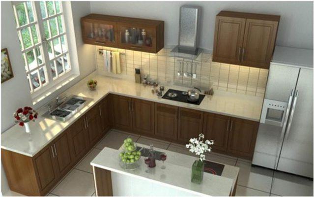 Bếp trong thiết kế nội thất nhà cấp 4