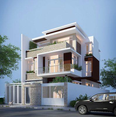 Thiết kế biệt thự 3 tầng tại Vĩnh Phúc