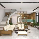 Thiết kế thi công nội thất nhà liền kề