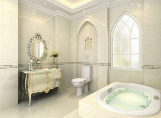 Phng cách hiện đại, đầy đủ tiện nghi với nội thất phòng tắm sang trọng như bồn tắm sục,...