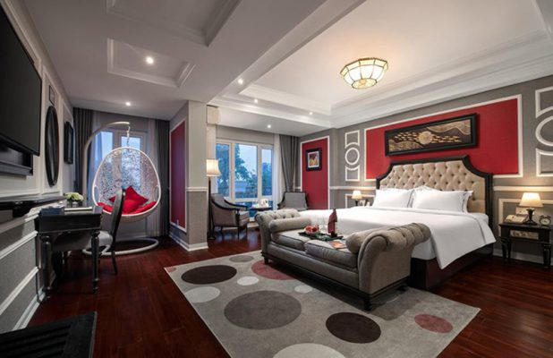 Phòng ngủ chuẩn 5 sao đơn giản hiện đại