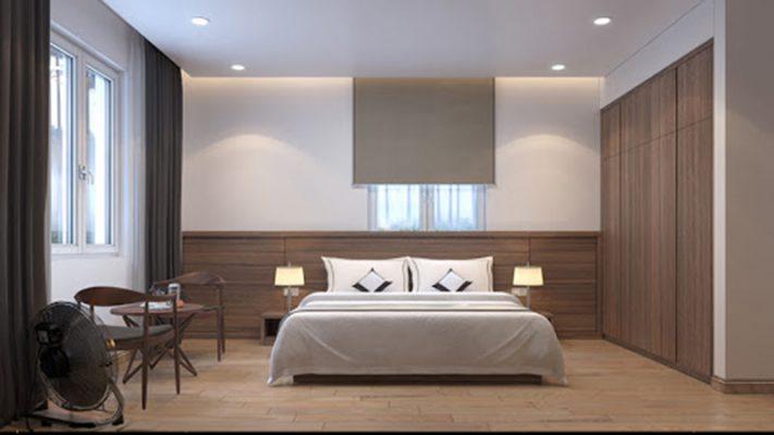 Phòng ngủ đơn giản cho khách sạn mini