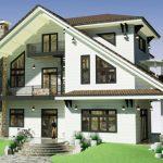 Thiết kế nhà đẹp mái chéo tại Vĩnh Phúc