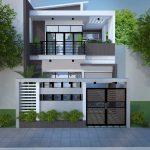 Tư vấn thiết kế mẫu nhà mặt phố 2 tầng 7m mặt tiền