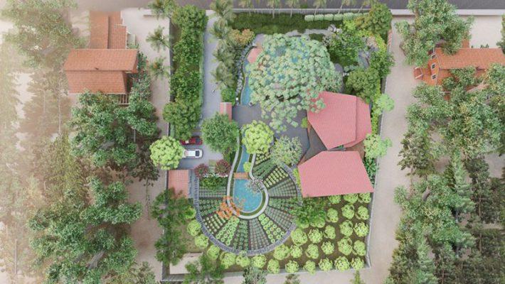Nội thất sân vườn đẹp mang đậm chất Việt Nam