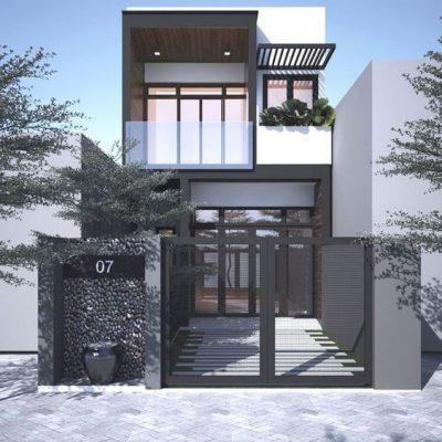 Thiết kế nhà 2 tầng đẹp đơn giản tại Vĩnh Phúc
