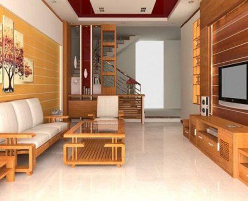 Nội thất trong thiết kế nội thất phòng khách nhà ống