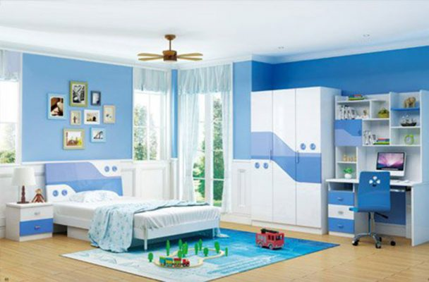 Phòng ngủ có không gian thoáng cho bé