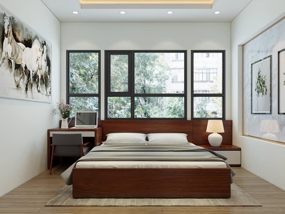 Phòng ngủ Master nhà anh Khoa