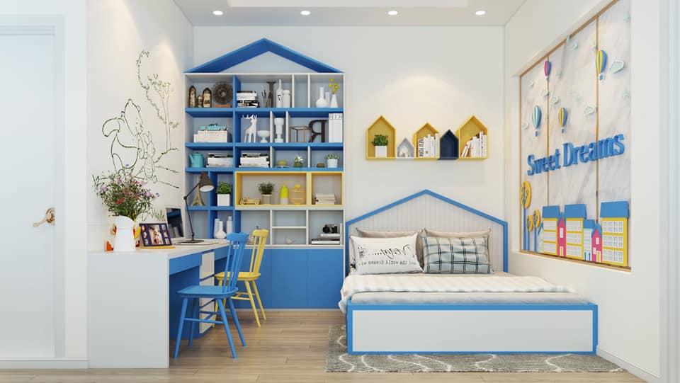 Phòng ngủ trẻ em nhà anh Khoa