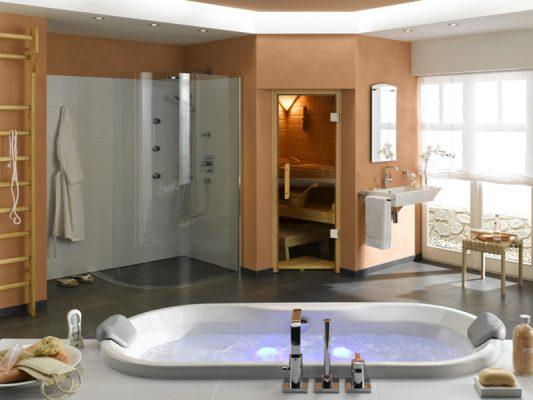 Nội thất phòng tắm hiện đại kết hợp spa
