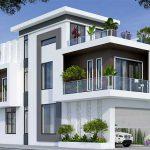 Thiết kế nhà phố 2 mặt tiền tại Vĩnh Phúc
