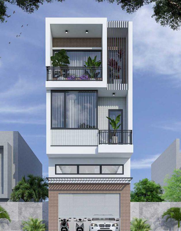 Thiết kế nhà phố 5x23m tại Yên Lạc – Vĩnh Phúc
