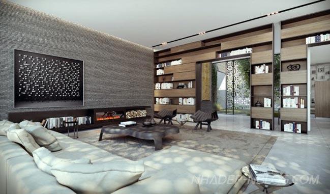 Thiết kế thi công nội thất nhà ống tại Vĩnh Phúc
