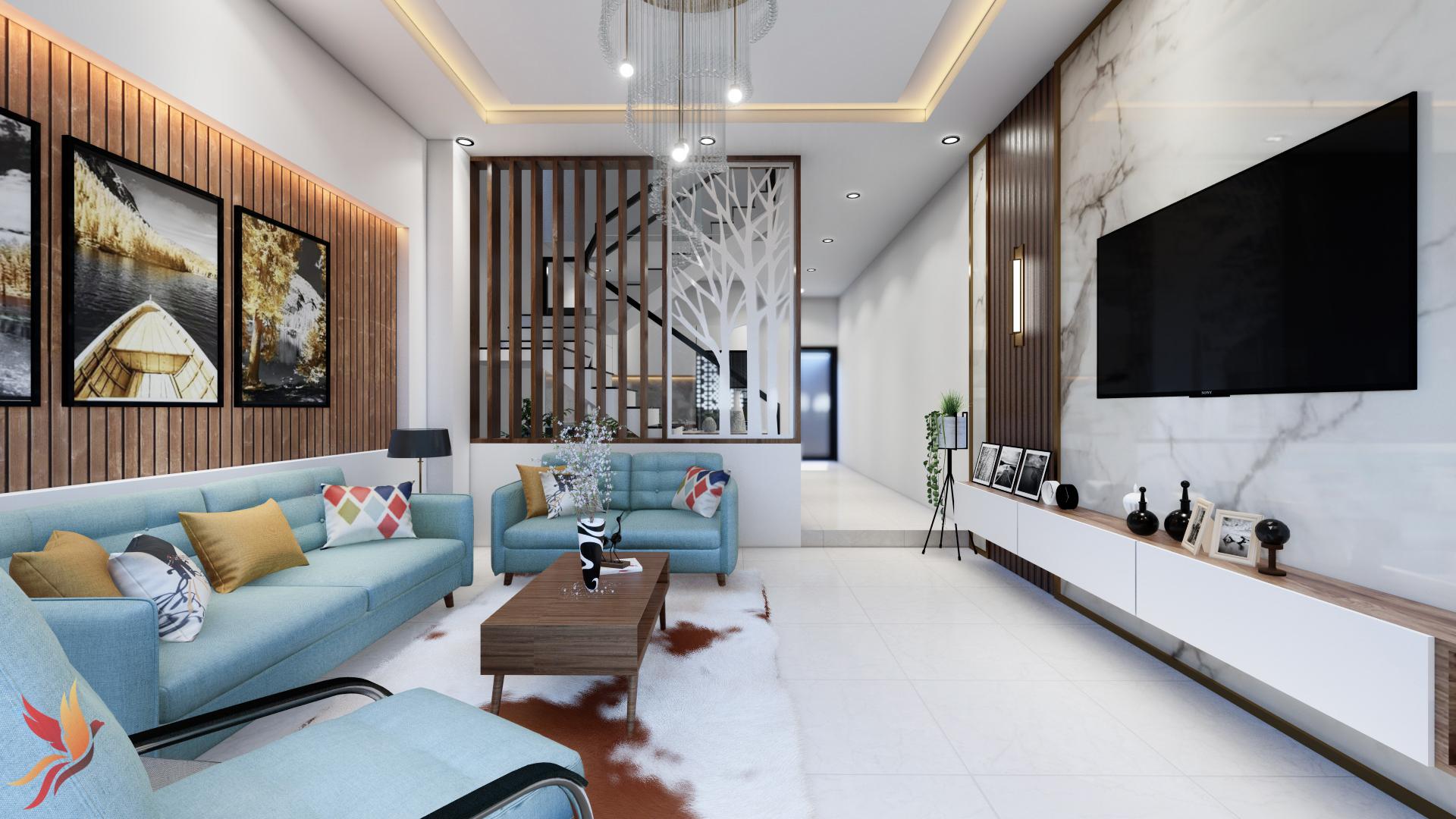 Thiết kế thi công phòng khách tại Vĩnh Phúc