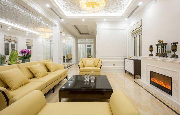 Thiết kế nội thất tân cổ điển Phòng Khách Cao cấp