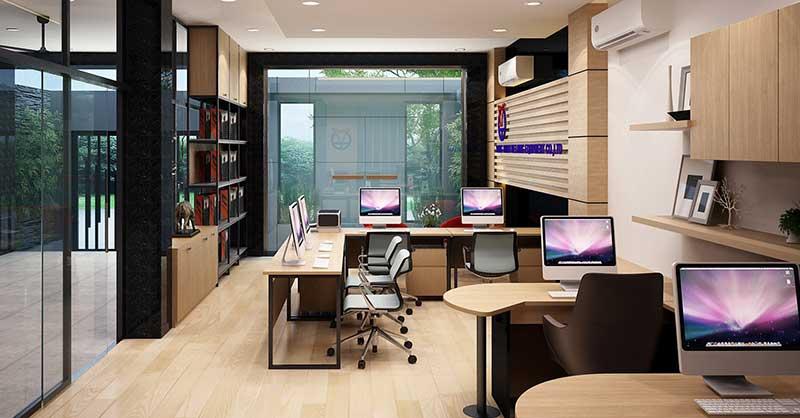 Thiết kế thi công nội thất văn phòng tại Vĩnh Phúc