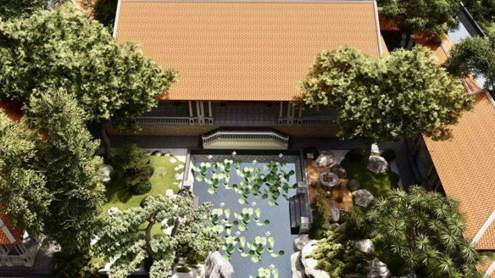 Nội thất sân vườn mang phong cách Nam Bộ