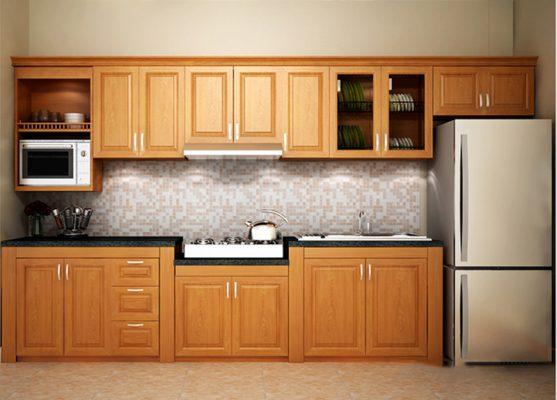 Tủ bếp chữ I phù hợp với bếp nhỏ