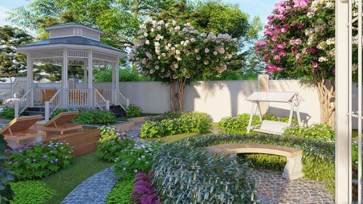 Sân vườn đẹp tại Vĩnh Phúc