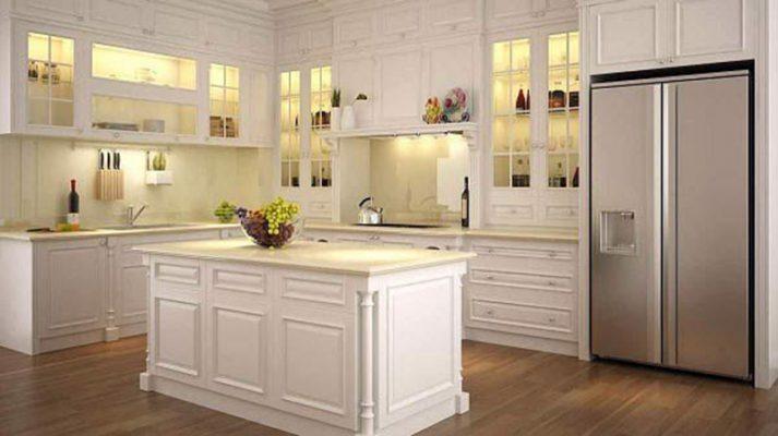 Thiết kế sang trọng tủ bếp gỗ công nghiệp