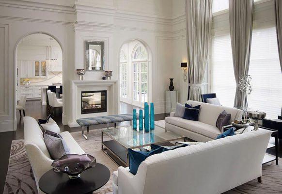 Thiết kế thi công nội thất phòng khách tân cổ điển 02