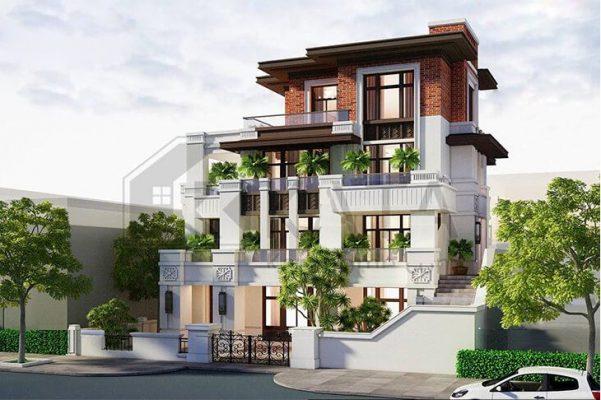 Thiết kế biệt thự 4 tầng hiện đại tai Vĩnh Phúc