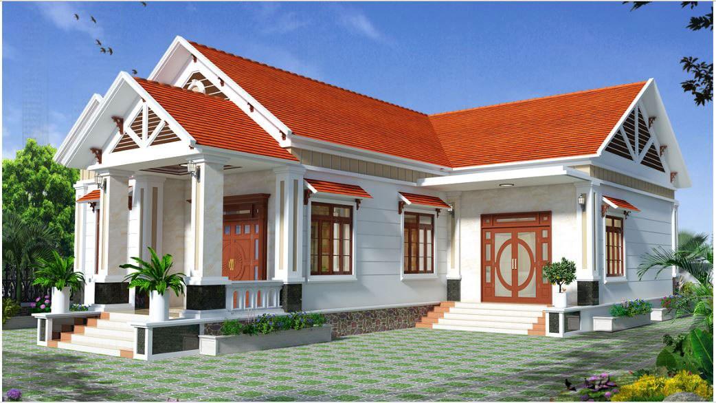 Thiết kế nhà cấp 4 chữ L tại Vĩnh Phúc