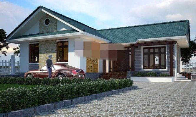 Báo giá thiết kế thi công nhà cấp 4 chứ L tại Vĩnh Phúc