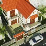 Thiết kế thi công nhà 2 tầng chữ L tại Vĩnh Phúc