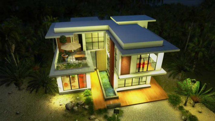 Báo giá thiết kế và thi công nhà 2 tầng chữ U tại Vĩnh Phúc