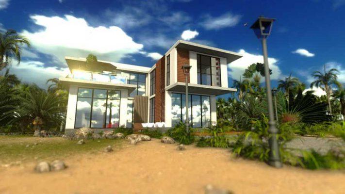 Công ty thiết kế thi công nhà 2 tầng chữ U tại Vĩnh Phúc