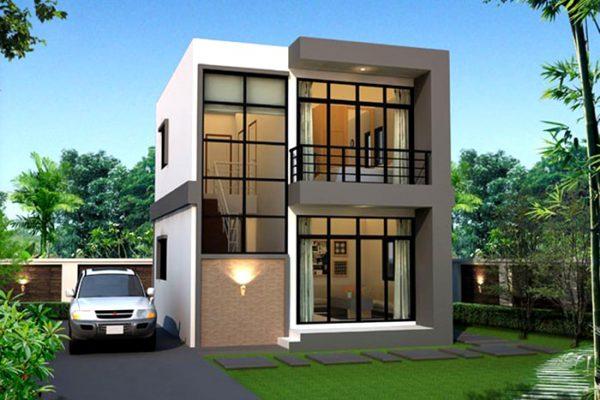 Báo gía thiết kế thi công nhà 2 tầng mái bằng tại Vĩnh Phúc